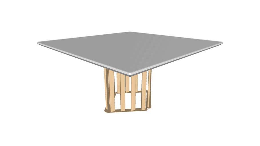 Mesa Nervura quadrada(tampo de vidro)
