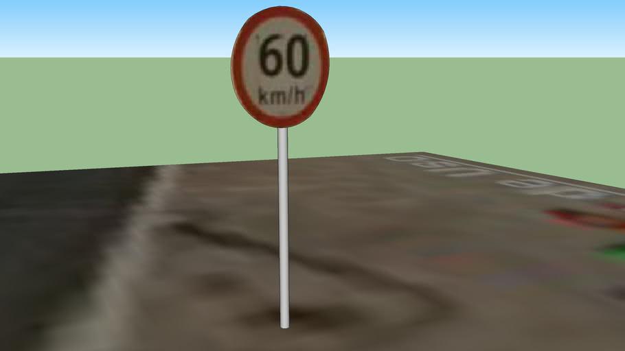 Placa de trânsito ESPLANADA 3D