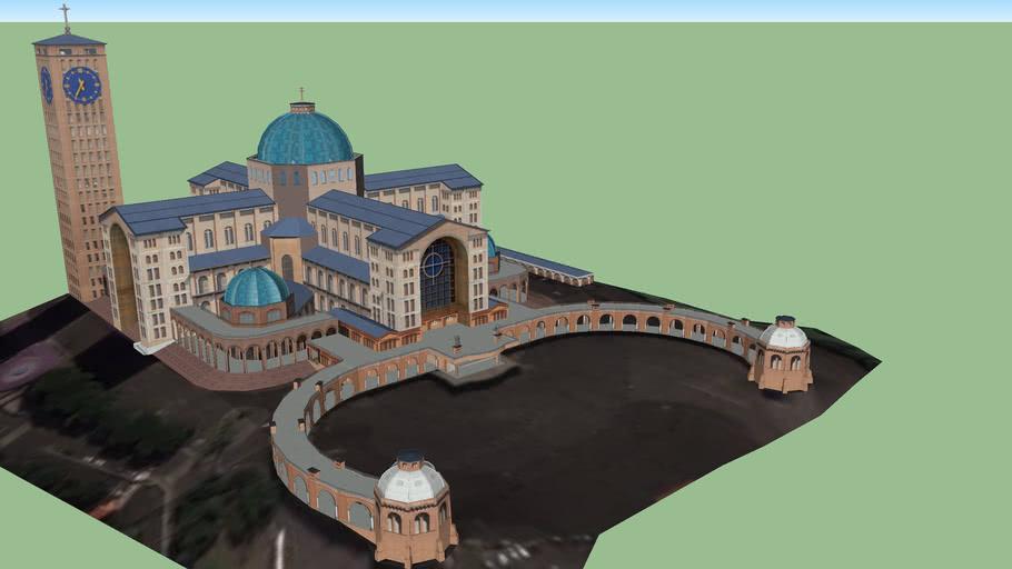 Modelo 3D da Basílica de Nossa Senhora Aparecida