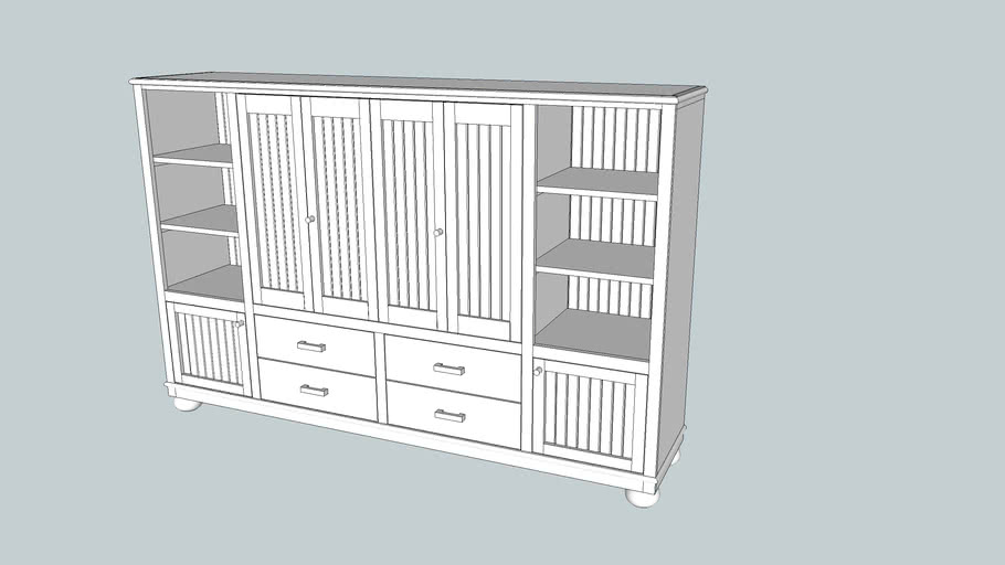 Medium TV cabinet w Bifold doors