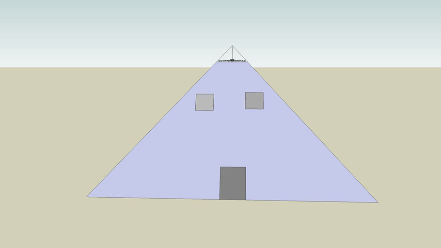 Beginning of Pyramid House