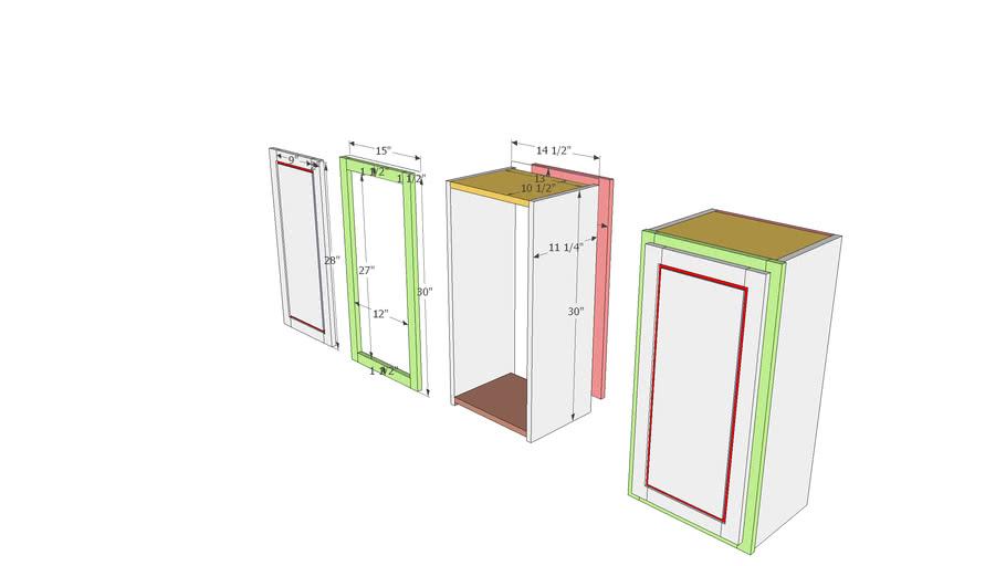Kitchen Cabinet (Upper)