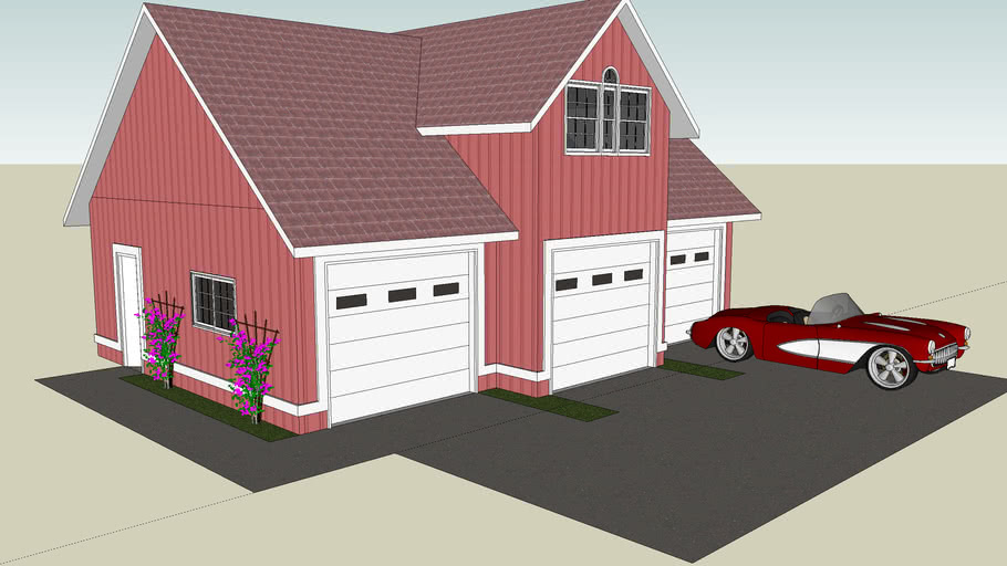 Spacious Three Car Garage