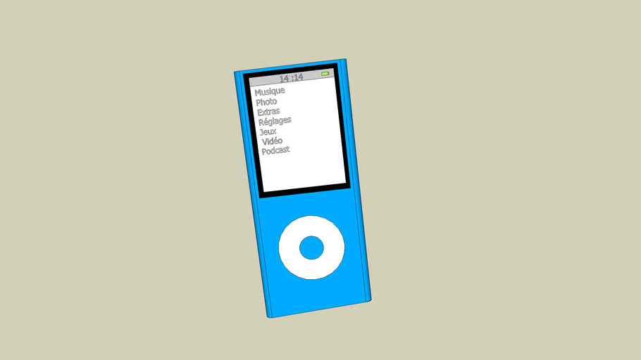 New ipod nano Version 4 bleu,Septembre 2008