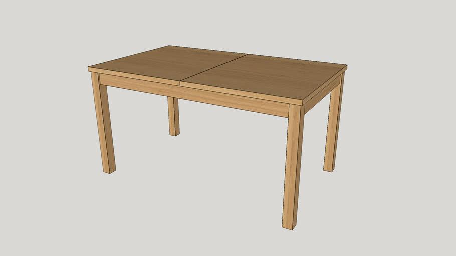 Ikea Bjursta Extendable Table Oak Veneer 3d Warehouse