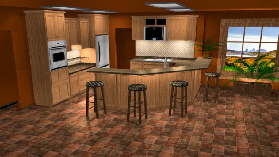 A warm kitchen