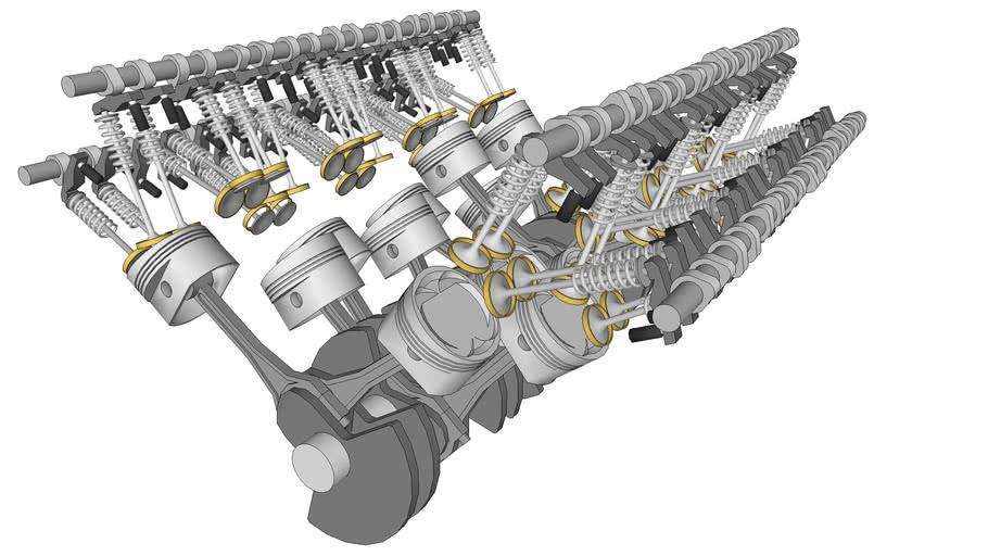 [SCHEMATICS_48YU]  W16 Bugatti Veyron engine | 3D Warehouse | Bugatti Veyron W16 Engine Diagram |  | W16 Bugatti Veyron engine | 3D Warehouse