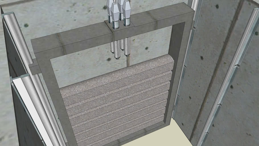 Elevator shaft 1 section (&) Лифт шахта 1 секция + противовес
