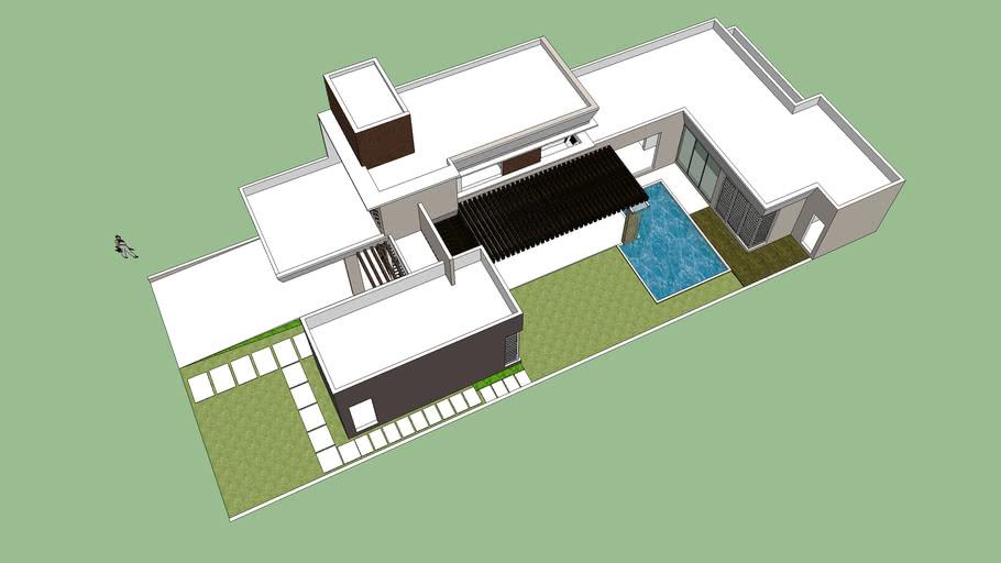casa com piscina moderna   3D Warehouse