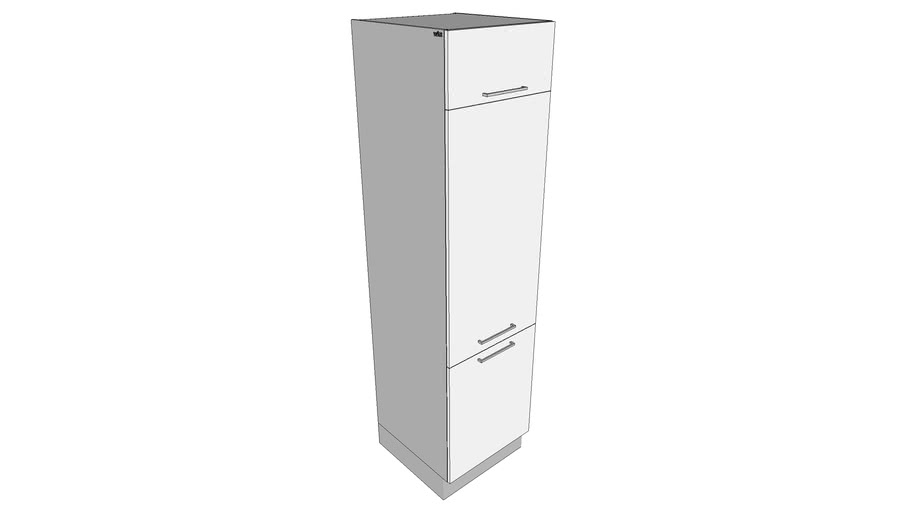 Tall Storage Cabinet W 1 Horizontal Swing Door 2 Doors Multi Doors Styles Dynamic Kitchen Cabinets Parametric Dimensions Witt Kitchen 3d Warehouse