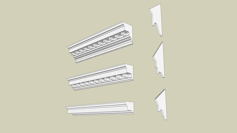 Williamsburg Inspired Cornices / Soffits - Profile Builder Friendly