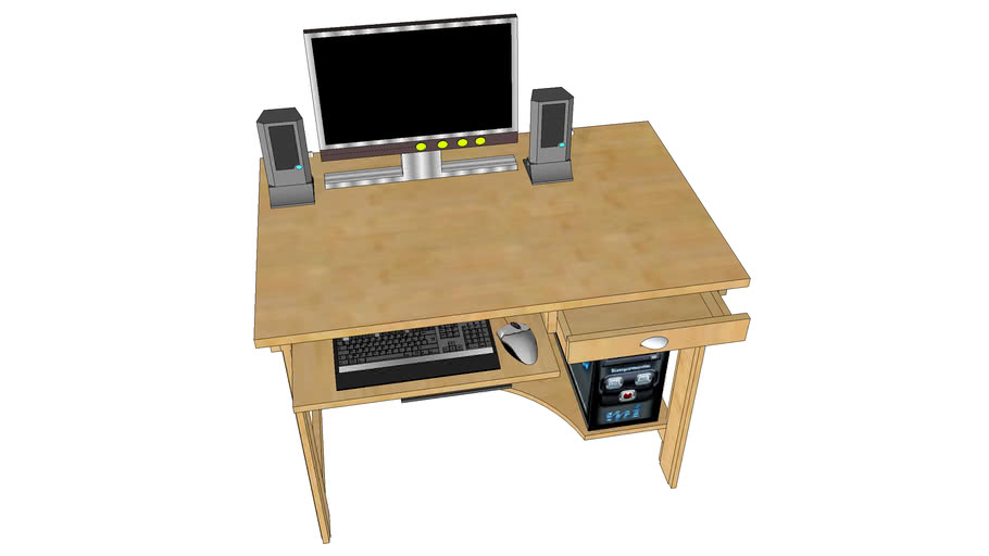 Bureau Pour Pc Desktop 3d Warehouse