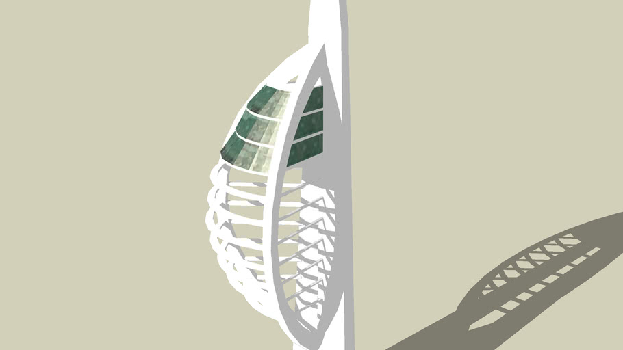 Spinnaker Tower (update more accurate, low polygons)