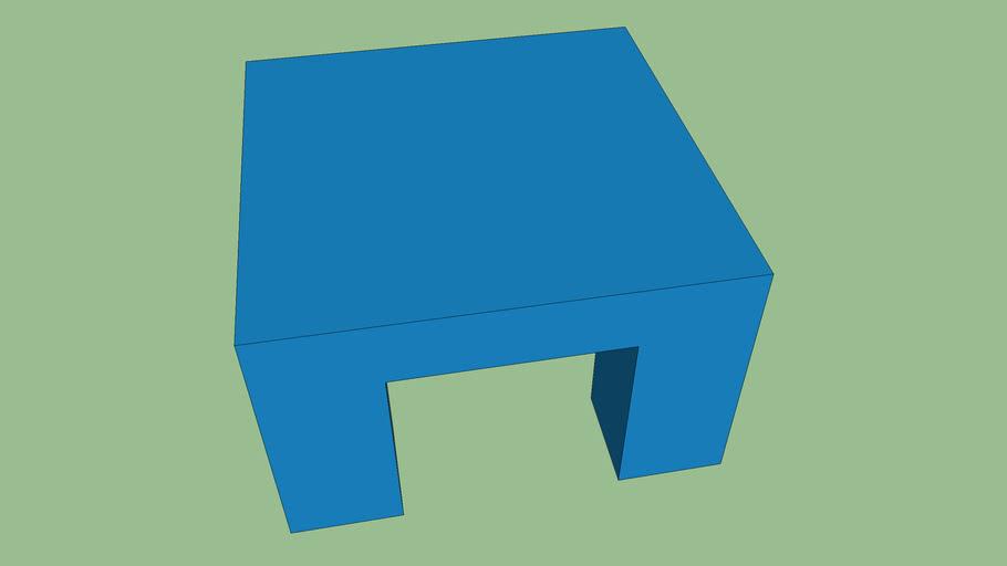 藍色四方桌