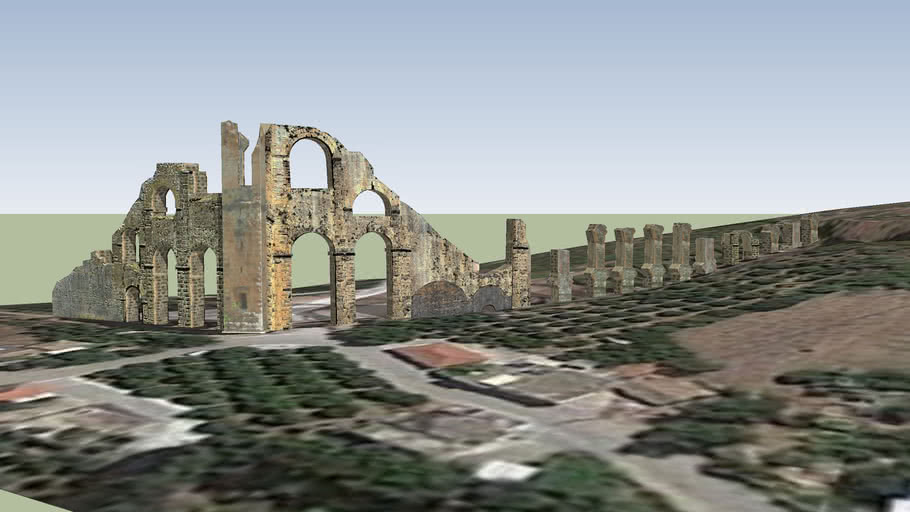 Aspendos. The remains of the aqueduct. Part 2.
