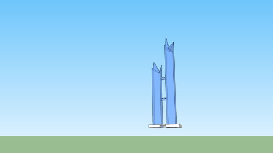skyscraper twins tower