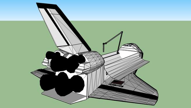 Space Shuttle Atlantis with cargo open