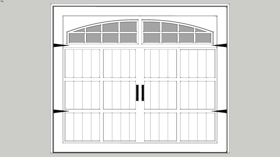 J - Garage Door - Single Carriage
