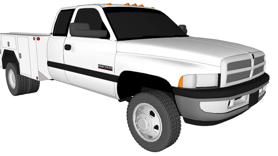 2001 Dodge Ram 3500 Service Truck Dually