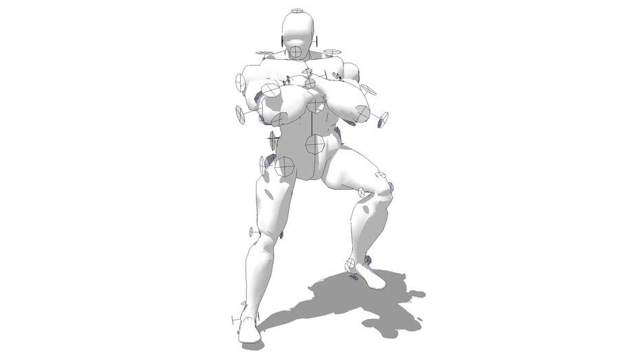 Male hero standing pose