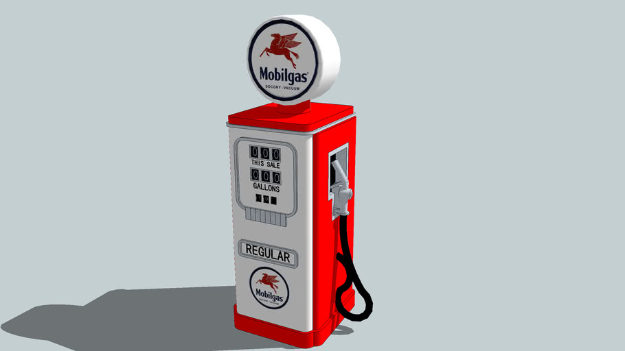 Old Style Mobilgas Gas Pump