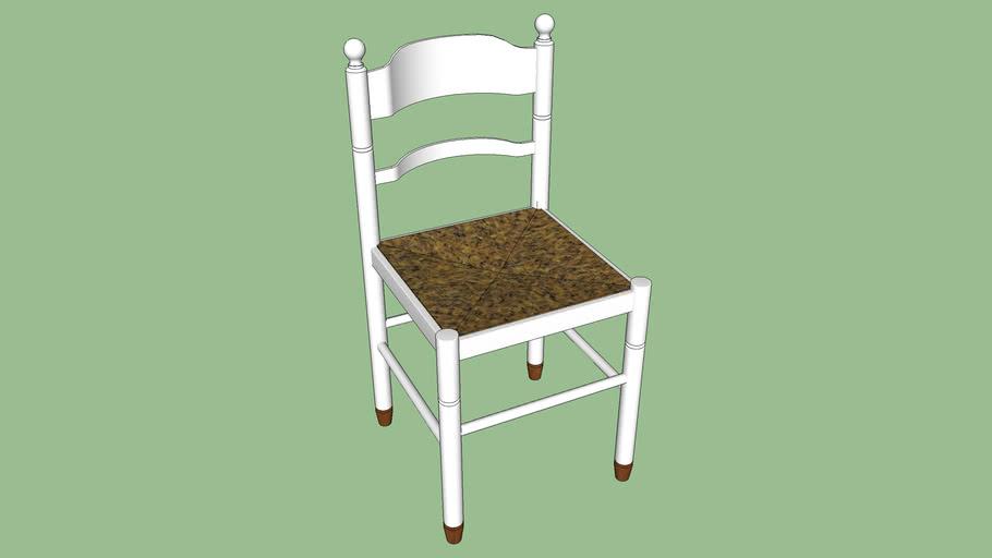 chaises bois blanc pied