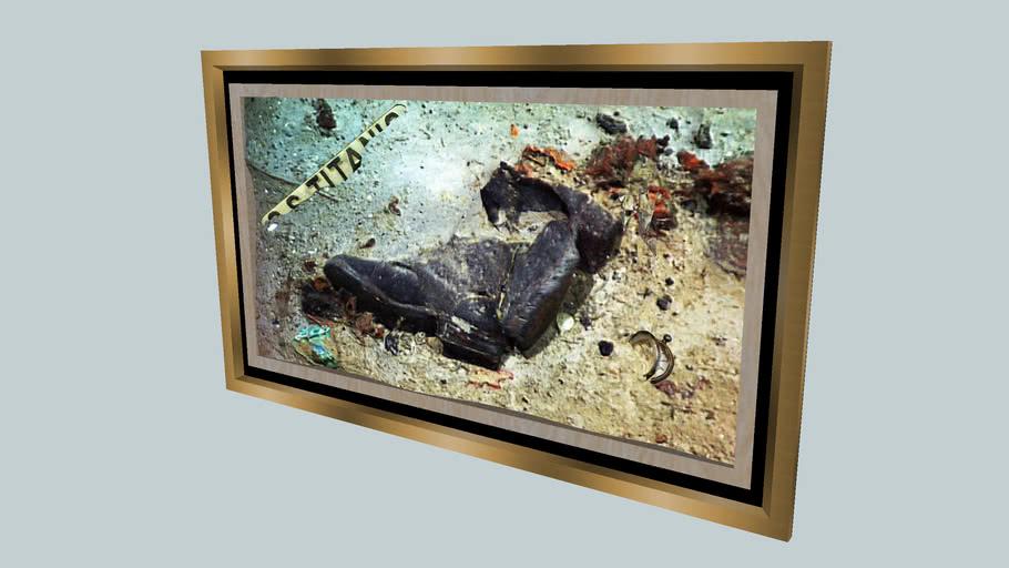"""""""TITANIC""""... """"Ocean Floor Relics""""..  """"Shoes""""...  """"1912 - 1985"""""""
