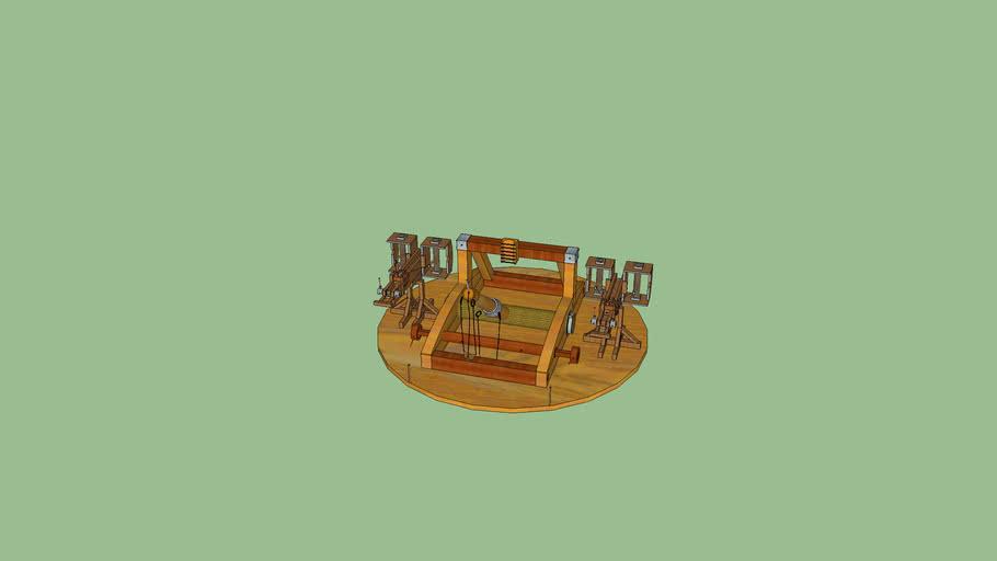 Catapulte sur tableau rotatif