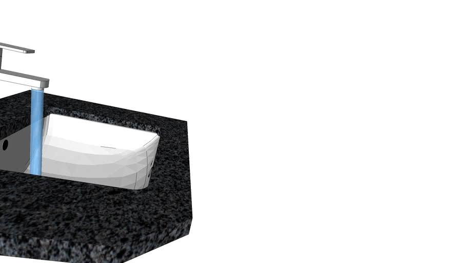 Washbasin Rea basin faucet granite Padank Dark bathroom water