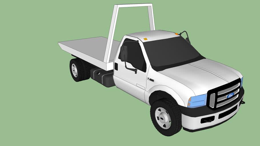Caminhão Ford F4000 Reboque Branco