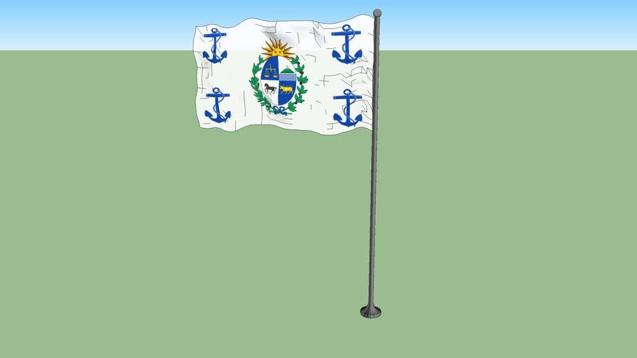 Presidential standard of Uruguay (at sea)