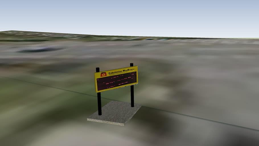 sconser pier caledonian macbrayne sign