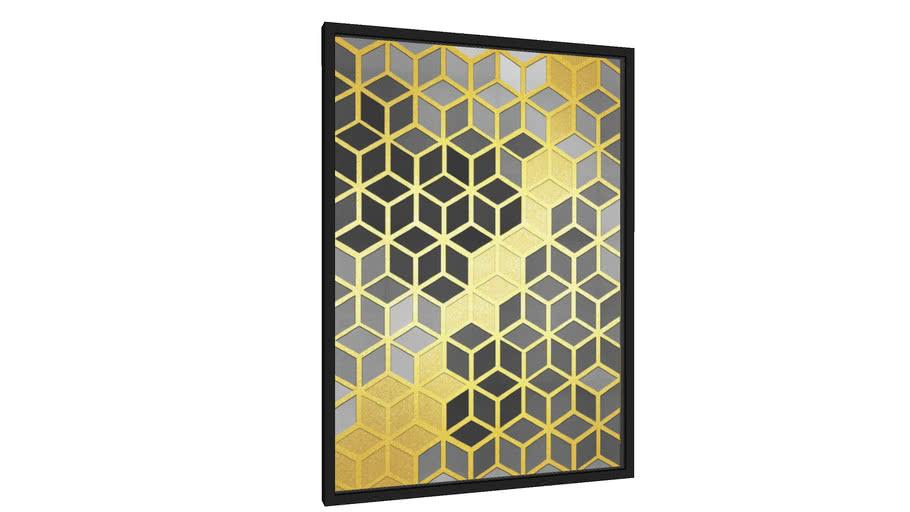Quadro Mosaico dourado II - Galeria9, por Vitor Costa