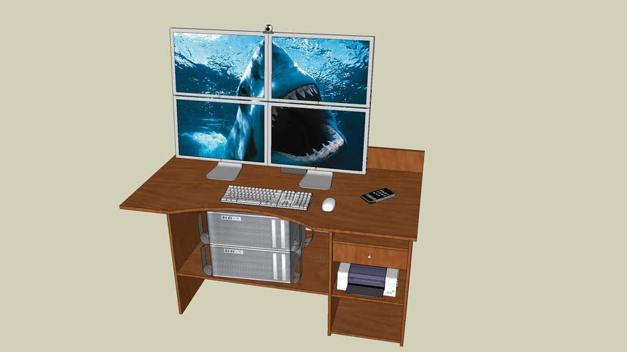 Apple and HP Designer Desk