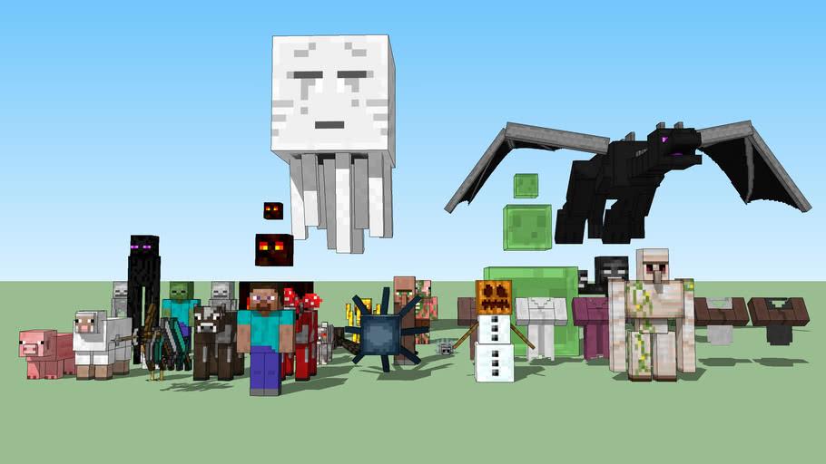 updated minecraft mobs all