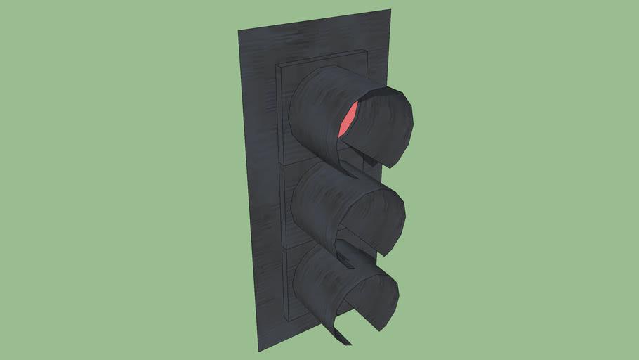 Single Vertical Traffic Signal