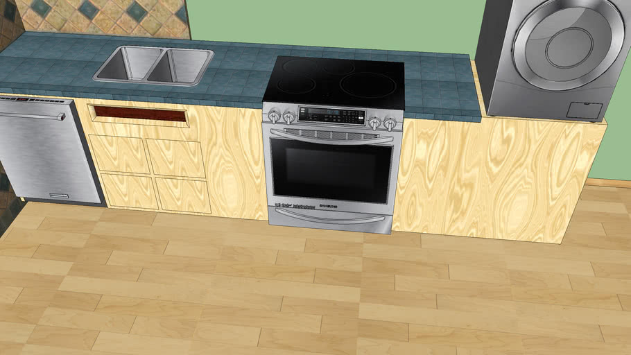 Samsung Induction Range W Oven 3d Warehouse