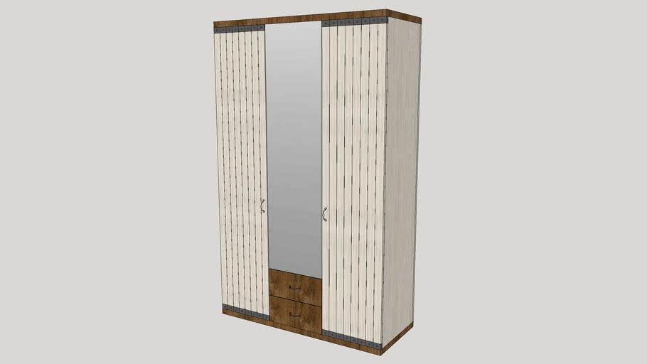 Montes 3 Door Wardrobe