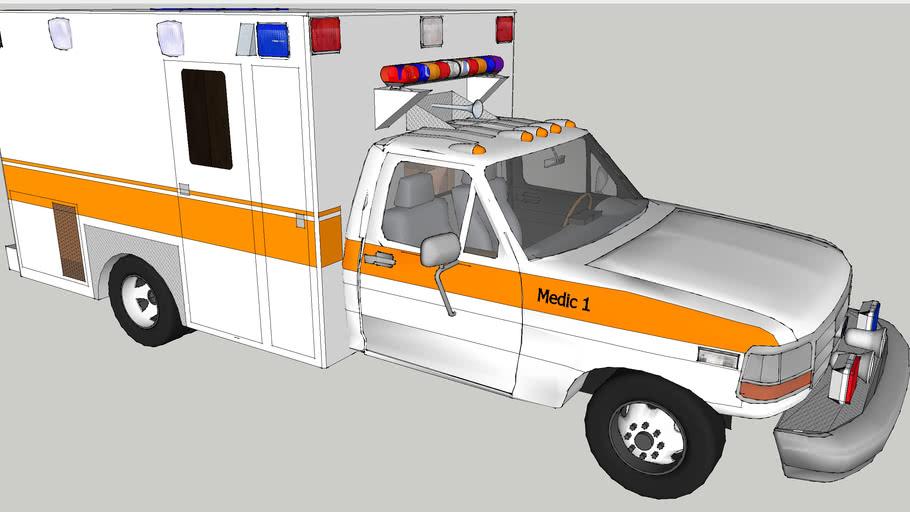 ambulance type l ford f350 turbo diesel super dury model 1997