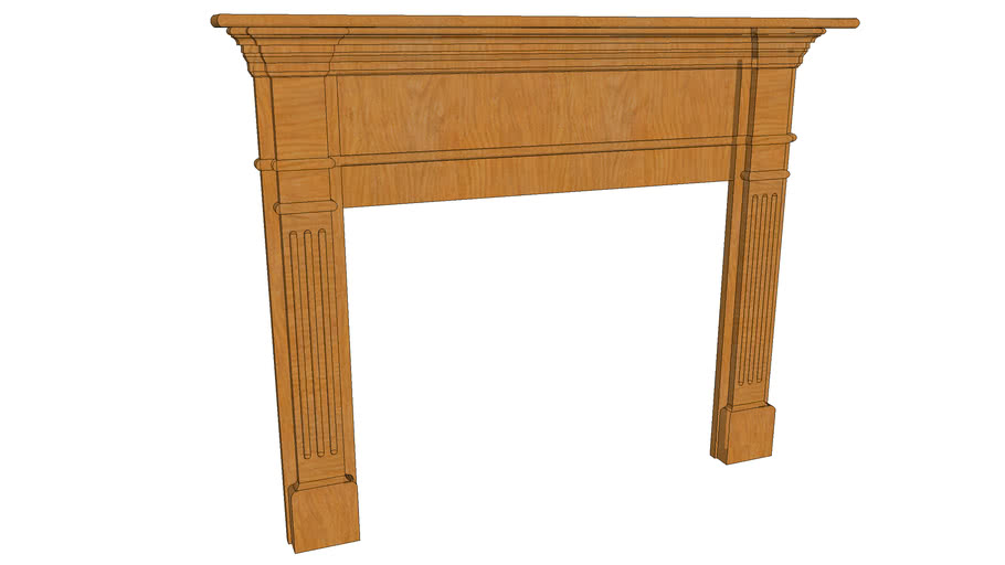 Fluted Fireplace Mantel