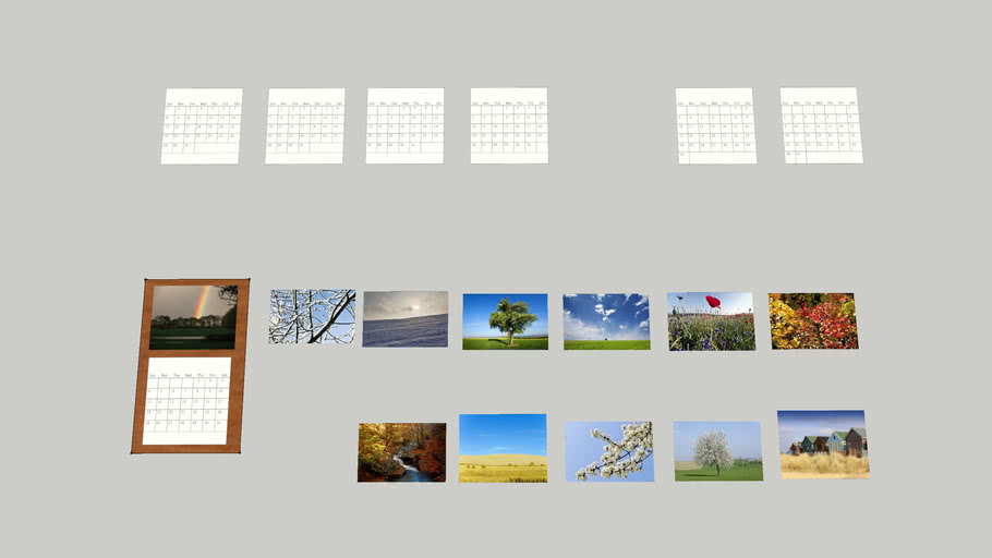 Wall Calendar with months