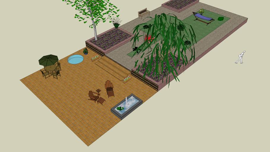 my sketch up garden
