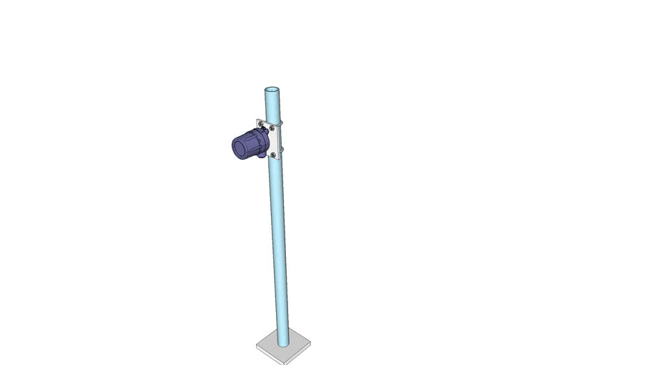 Local indicator mounted on pipe stand