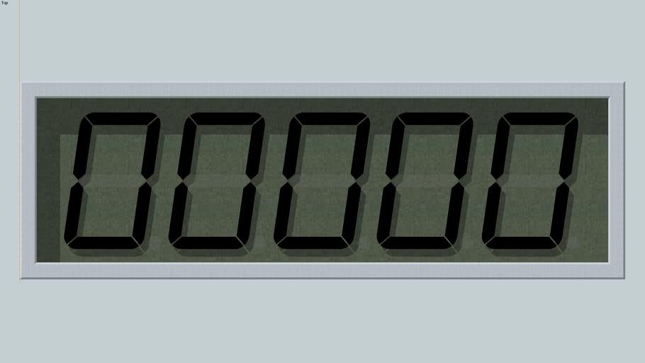 DC 5 Digit LCD Display