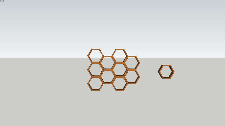 honeycomb wooden shelf 2