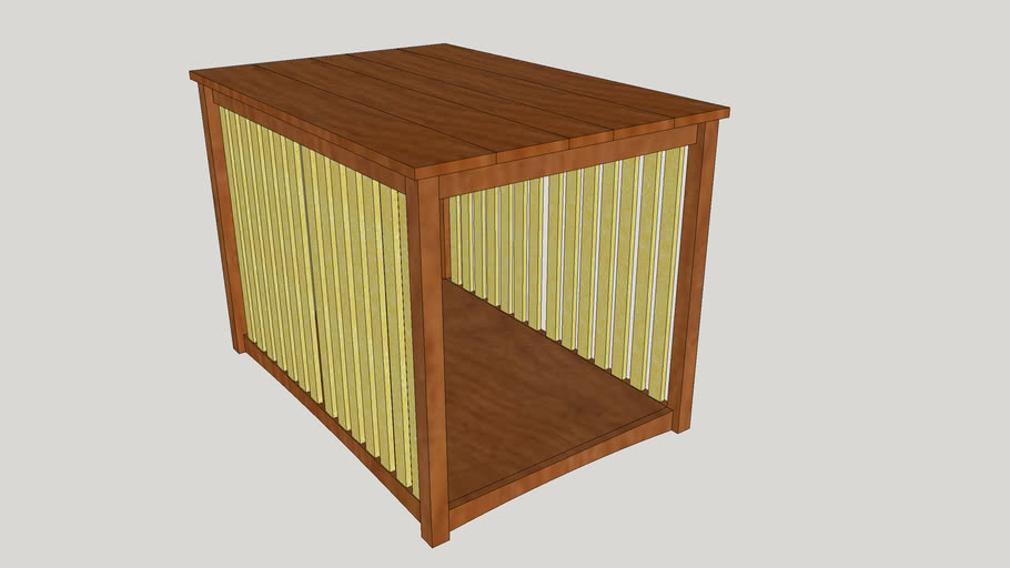 Mission style dog kennel / end table.
