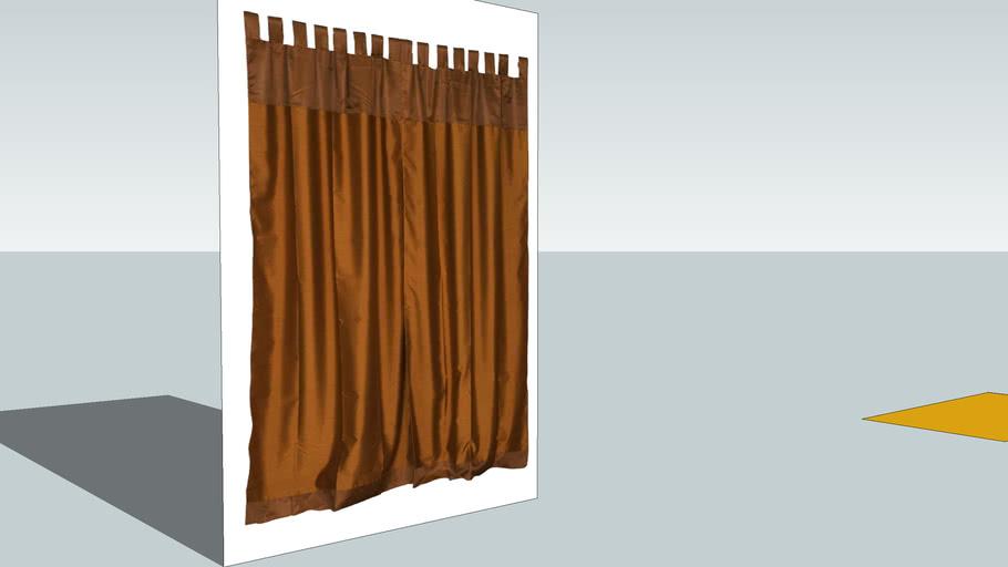 Golden Silk Curtain