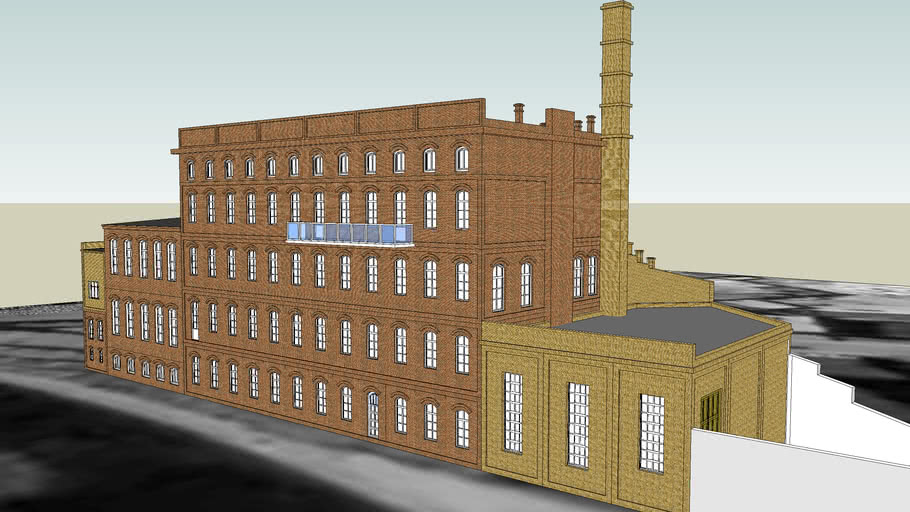 COMPLEX OF LAUNDRY BUILDINGS ON  4A SW. TROJCY STREET IN BYDGOSZCZ