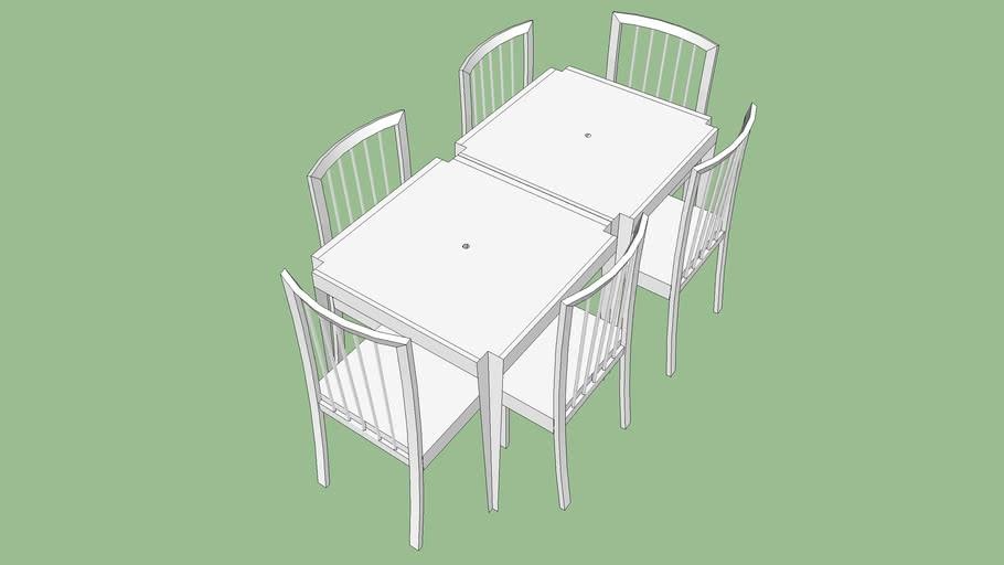 Mesa 6 Cadeiras Plastico