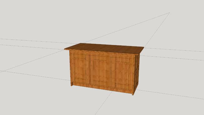 Large serving cupboard